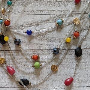 Multi Colored, Multi Strain Necklace